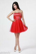 UK Stock New Arrivals Short Prom Dress Ball Gown Cocktail Party Dress Size 6-16
