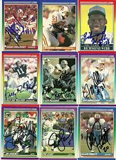 1990 Score BILLY JOE TOLLIVER Signed Card Lambeau Field CHARGERS texas tech