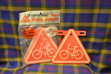Pair of Vintage INTERNATIONAL Bicycle Safety Triangles-Reflective 1972