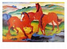 Franz Marc Die roten Pferde Poster Kunstdruck Bild 70x50cm