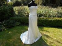 Caroline Castigliano Pure Silk Ivory Wedding Dress UK Size 8-10    RRP £2500