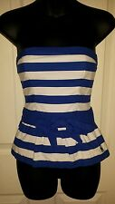 WOMENS Abercrombie and Fitch strapless top Size Small Striped