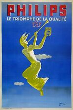 PAUL COLIN OLD ART DECO POSTER PHILIPS TSF The triumph of the quality  Ci 1930