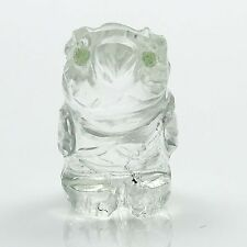 Crystal Clear Mini Owl Carved Figurine Table Dacor Gift Car Decor Cd868A