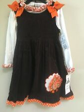 Boutique Rare Editions Thanksgiving Turkey Dress Sizes size 6 set outfit new nwt