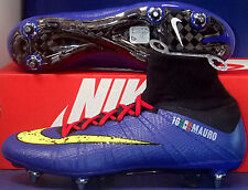 Nike Mercurial Superfly SG-Pro iD Blue Yellow Black Boots SZ US 9.5 (688578-981)