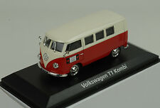 VW VOLKSWAGEN t1 Bulli Bus Station Wagon rosso Cream 1:43 NOREV