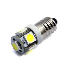 SMD LED E10 Lampe Schraubgewinde 6V Volt Xenon weiss Fahrrad 5x5050 Power
