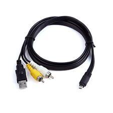 2in1 USB SYNC +AV A/V TV Cable For Nikon Coolpix Camera L310 L320 L610 L620 2200