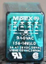Six NOS Midtex 240V 4 pole double throw 156-14U3L0 1/10HP 14 pin relays
