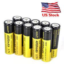10PCS Rechargeable Boruit 3.7V 4000mAh 18650 Li-ion Battery for Flashlight Torch