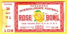 *VINTAGE 1951 ROSE BOWL FOOTBALL TICKET STUB-MICHIGAN VS. CAL