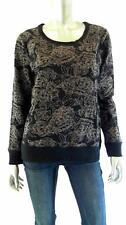 Style & Co. Misses Womens Knit Crew Sweatshirt SZ L Deep Black Floral Sale US