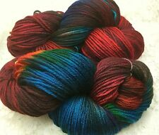 hand dyed merino superwash 250 yds worsted Aztec yarn knitting