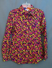 TIN HAUL RODEO ARENA Western SOUTHWEST VIBRANT PRINT SHIRT COWGIRL  NWT LARGE