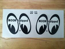 Mooneyes Decal Set Stickers Muscle Car Drag  MOON EQUIPPED  Hot Rat Rod MQD008