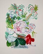 """""""Fleurs peintes en dédicace""""  lithographie signée Raoul DUFY"""