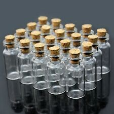 20pcs 2ml 16x35mm Small Tiny Empty Clear Glass Bottles Vials with Cork Wholesale