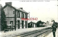 Photo argentique Notre Dame des Landes la gare locomotive train chemin de fer