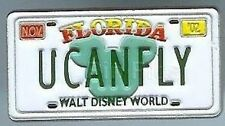 Disney Pin: WDW Cast Lanyard Pin Collection 1 U CAN FLY License Plate