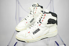 Men's Vintage 80s Puma Cat Genuine Distressed Leather Hi Top Trainers UK 7