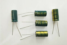 5 x cond. elettr. 3300uF 6,3V 105°C SANYO Japan 20x10 mm LOW ESR serie S.E.65 WG