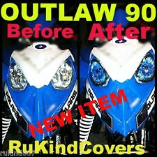 POLARIS PREDATOR 90 Outlaw 90 HEADLIGHT COVER'S BLUE EYES RUKINDCOVERS