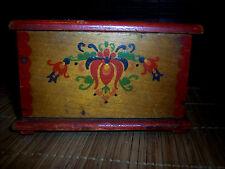Alter Schmuckdose Schmuck Kasten Behälter aus Holz HM  581