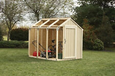 Shed Kit 7' x 8' Wood Outdoor Yard Storage Tool Shed / House Connector Kit