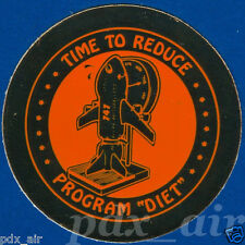 ULTRA RARE BOEING 747 TIME TO REDUCE PROGRAM DIET GOLD REFLECTION SMALL STICKER