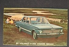 1964 Plymouth Valiant V-200 4-Door Postcard Sales Brochure Excellent Original 64