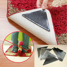 4X Rug Carpet Mat Grippers Non Slip Anti Skid Reusable Washable Silicone Grip B2