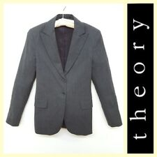 Theory $355 classic two-button gray suit jacket/blazer ~S