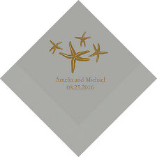 100 Starfish Personalized Wedding Cocktail Napkins