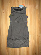 Karen Millen, grey tailored check office work dress 87% wool, size 16, BNWT!