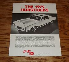 Original 1972 Hurst Oldsmobile Sales Brochure Fact Sheet 72 Olds
