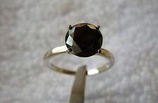 2.25ct NATURAL BLACK DIAMOND RING,APPRAISAL BY GIA GRAD,SIZE 5.5,ENGAGEMENT RING