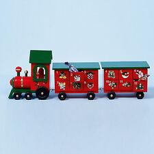 Christmas Wooden Advent Calendar Train Design - 24 Drawers