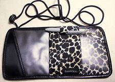 Travelon Leopard Print & Black Anti Theft CrossBody Under Clothes Carrier Wallet