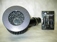"Universal 3"" Diameter Carbon Fiber Short Ram Air Intake with Sensor Adapter Kit"