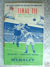 1951 FA Cup FINAL Official Programme- BLACKPOOL v NEWCASTLE UNITED, 28th April