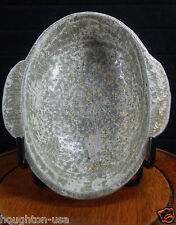 """RARE Ancient Lacquer Glazed Wine """"Ear Cup"""" Imperial Gift from Emperor! Han Dyn."""