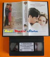 film VHS SWEET NOVEMBER Keanu Reeves Charlize Theron WB 2002  (F4) no dvd