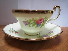 EB FOLEY BONE CHINA - FOLEY TULIP - CUP AND SAUCER - THICK GOLD TRIM