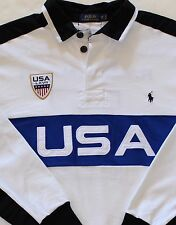 New $165 Polo Ralph Lauren White St. Moritz USA LXVII Polo Rugby Shirt / BIG 2X