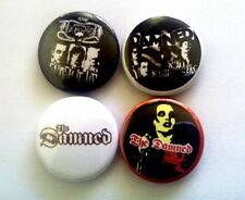 """4 x The Damned 1"""" Pin Button Badges ( music for pleasure black album anything )"""