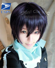 Anime Noragami Yato Wig Short Purple Synthetic Costume Cosplay Party Hair Wigs