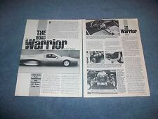 "1984 Pontiac Trans Am Gale Banks Twin-Turbo Vintage Article ""The Road Warrior"""