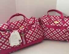 "Jessica Simpson 2pc Set Country Club 22"" Wheeled Duffel & Tote Carry On NWT"