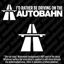 (2) AUTOBAHN Vinyl Decal Sticker Euro Germany Motorway Sign Symbol Nurburgring